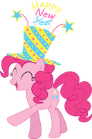 Pinkie Pie's New Year Spirit- New Years Collab by EMedina13