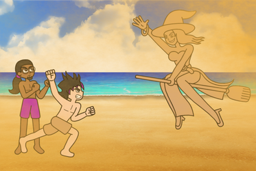 Remy And Myles vs The Sand Witch by Animekid0839