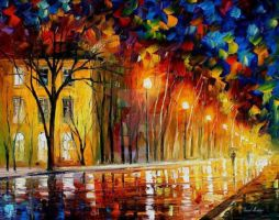 Inner Warmth by Leonid Afremov by Leonidafremov