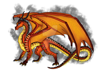 WoF - Peril, the fire-born Skywing by AnaPaulaDBZ