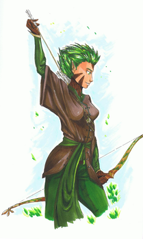 Dryad comission by MirielMartell