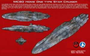 MC80 Home One type star cruiser ortho [New] by unusualsuspex