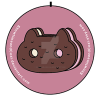 Cookie Cat Sandwich Pin by ShowtimeandCoal