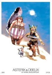 Asteris and Obelix Print by rafaelalbuquerqueart