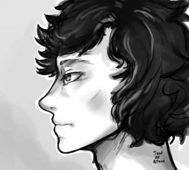Sherlock Sketch by SonOfAtom101