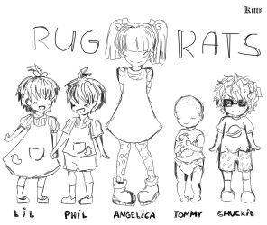 Rugrats Theory Lineart by Bunny-and-Kitty