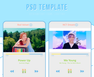PSD TEMPLATE #001  SUMMER MAGIC VIDEO PLAYER  by Lisethh