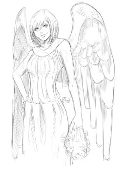 Weeping Angel Sketch by Shono