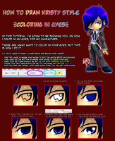 How to Color Anime Eyes by kristyd