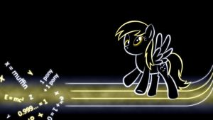 Derpy Hooves Glow Wallpaper by SmockHobbes