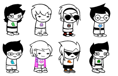 Homestuck Kid Genderbends by sleuthingLicorice
