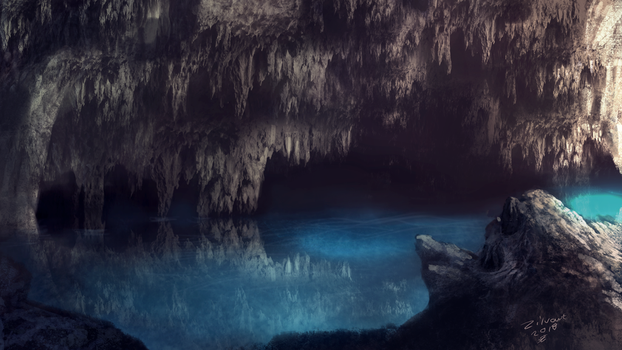 Water cave by zilvart