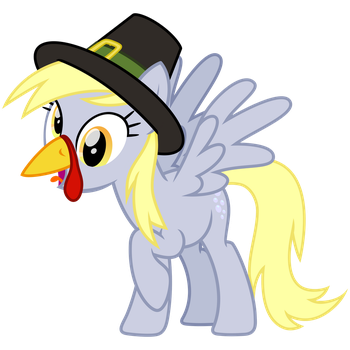 Have a Derpy Thanksgiving! by cheezedoodle96
