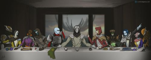 Let Us Sit Upon The Great Machine | Destiny by patgarci