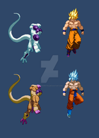 Goku vs Freeza (extreme butoden) by DivineSprites
