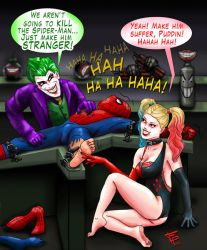 Joker and Harley VS Spider-Man by Fantasy-Play