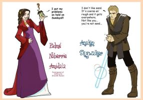 Padme and Anakin by ktshy