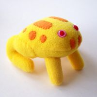 Another albino pacman frog by WeirdBugLady