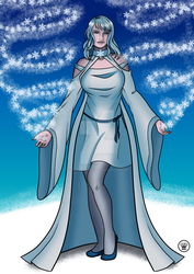 Lady Winter - Goddess of the Snow by Carmela-DarkQueen