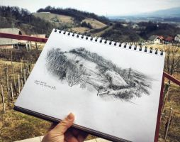 Nature sketch by Cleicha