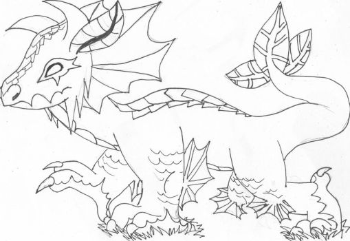 Earth dragon inks by theMidnghtWolfStar