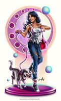Girl and pet by EdgarSandoval