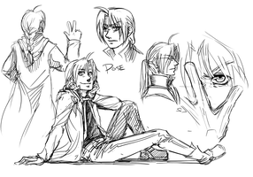 FMA - more ed doodles by FerioWind