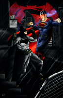 Batman v Superman - God vs Man by NIEOEIN