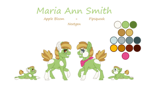 Reference Sheet - Maria Ann Smith by JackieBloom