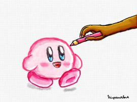 a kirby drawing by ninpeachlover