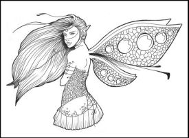 . : Fairy Line Art 2 : . by Violetris