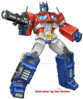 Masterpiece Optimus Prime by Dan-the-artguy