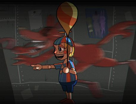 Five night at Freddy's 2 _ balloon boy and foxy by dalsegno2525