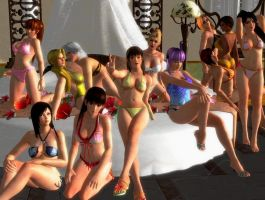 Dead or Alive 5 - sexy group Photo by Dante-564
