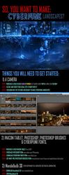 How to make Cyberpunk cities and landscapes by alexiuss