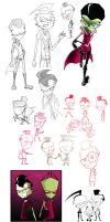 Another Zim sketch dump by Metros2soul