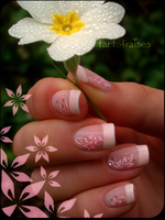simple french mani by Tartofraises