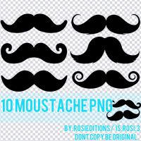 Moustache png by RosiEditions