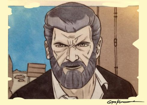 Logan sketch card by shinigamizachi