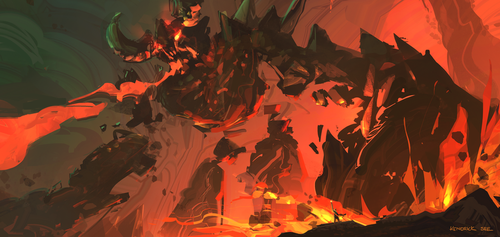 Fire Golem by SourShade