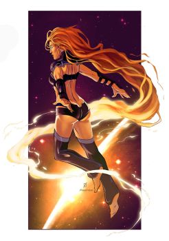 Starfire Pin Up Colors by RobertDanielRyan