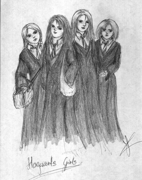 Hogwarts girls by pottering