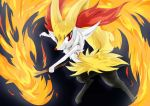 Braixen fires by Definisher