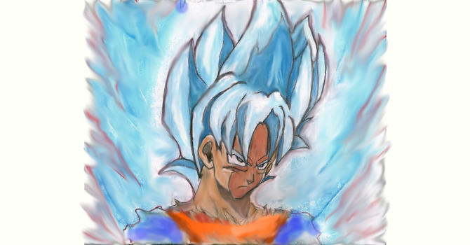 God Mode Goku Blue by BadClone