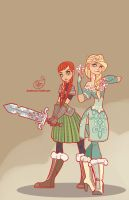 Frozen - Elsa and Anna by MeoMai
