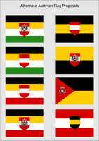 Alternate Austrian Flag Proposals by zalezsky