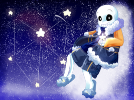 Outertale Sans [Speedpaint] by Pudp0n