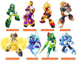 Megaman 11 Robot Masters Fan Made by ultimatemaverickx