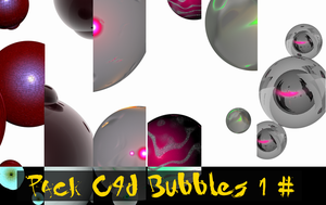 Pack C4d Bubbles 1 by sakaDesign
