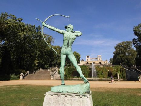 Bowshooter Statue in Front Of Orangery Palace by FrankABrut